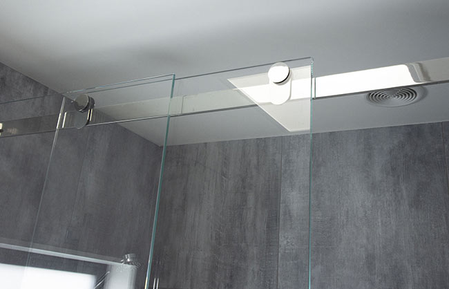 sliding shower system
