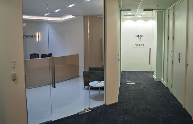 Glass Office Entry